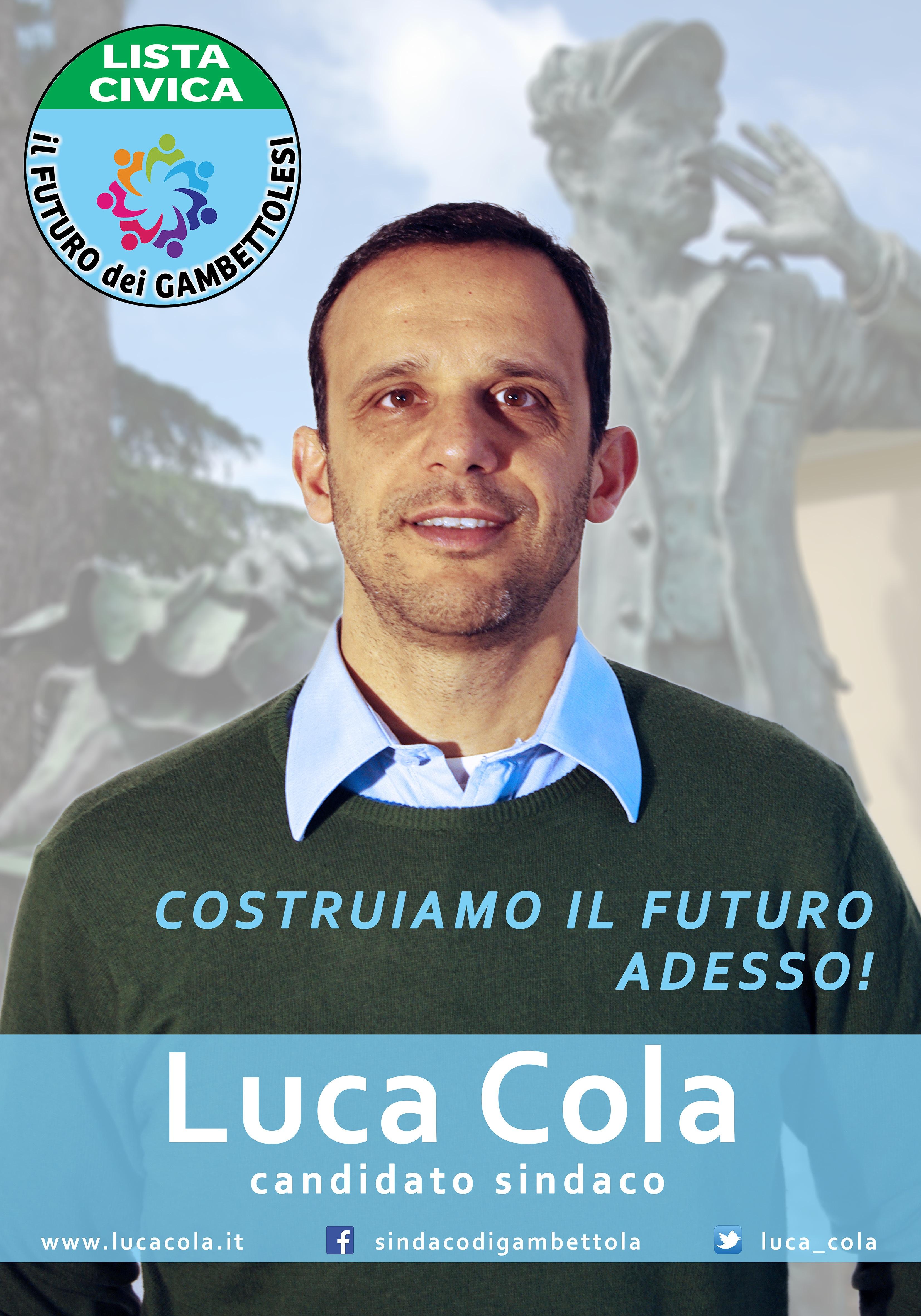 Luca cola candidato sindaco elezioni amministrative gambettola for Lista senatori
