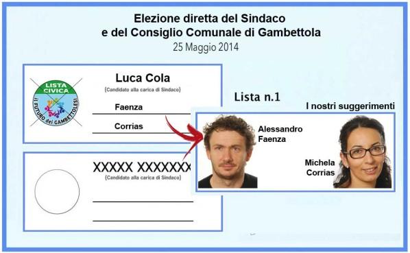 Faenza - Corrias elezioni amministrative 2014 Gambettola