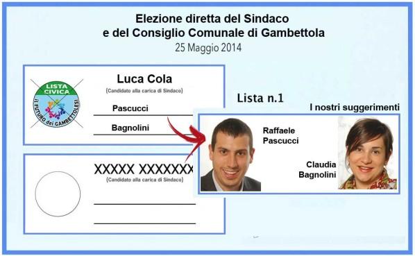 Pascucci - Bagnolini elezioni amministrative 2014 Gambettola Lista Civica
